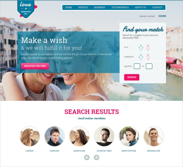 dating paradise website theme 13