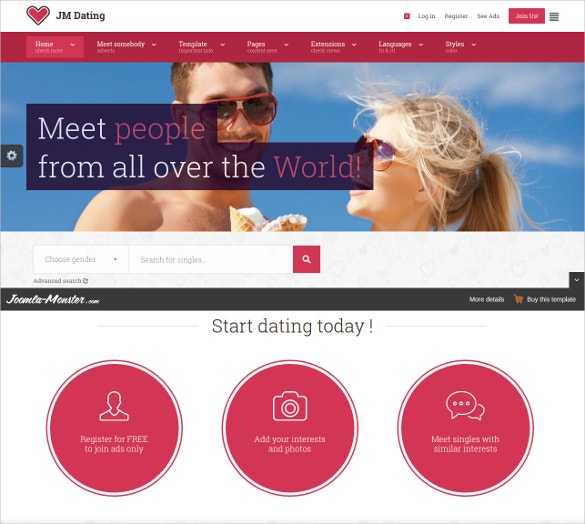 dating joomla website theme