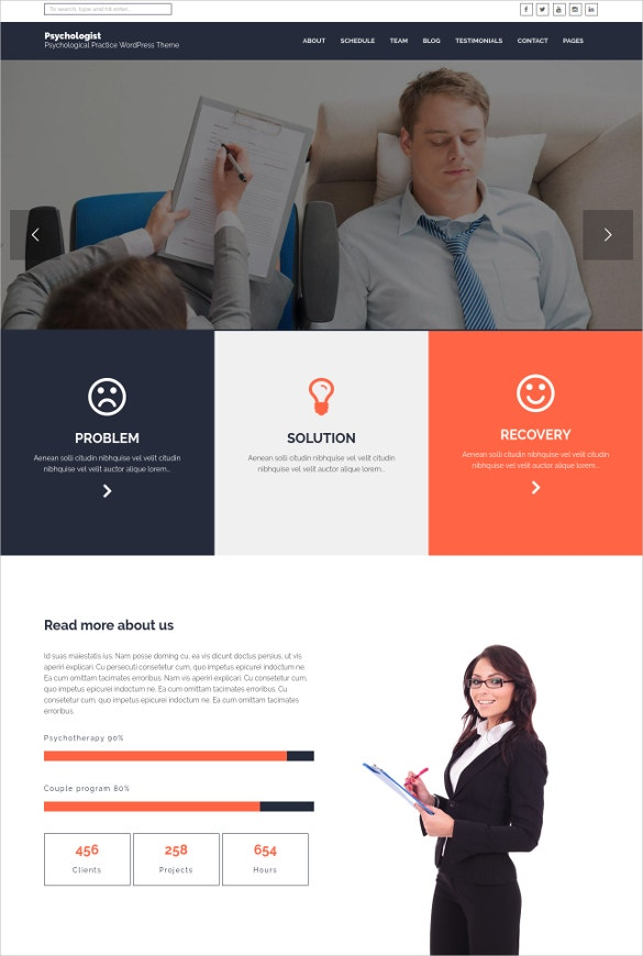 psychological practice wp theme