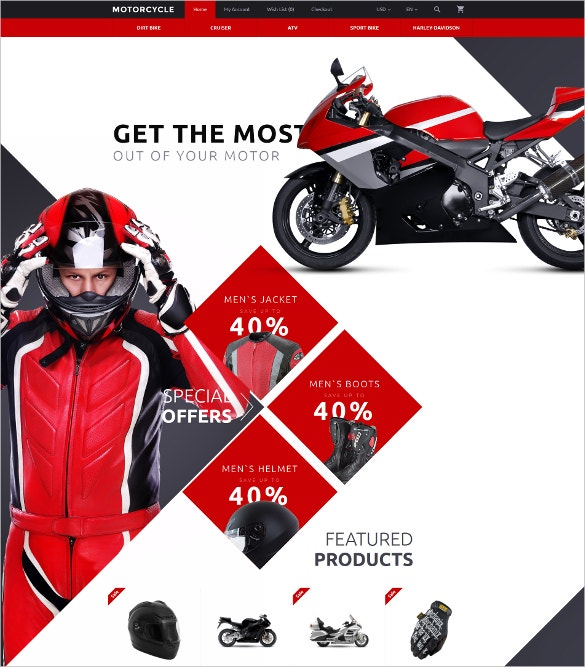 motorcycle opencart website template 89