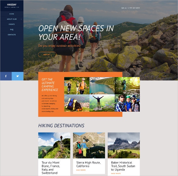 hikeday sports website template 69