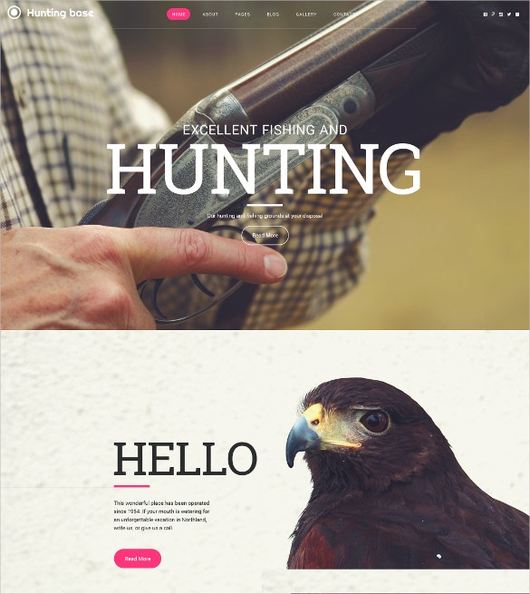 hunting sports joomla website template 75