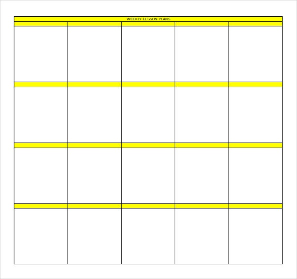 free download weekly lesson plan template ms word format