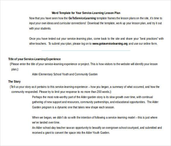 11 Microsoft Word Lesson Plan Templates Free Amp Premium Mandegarfo