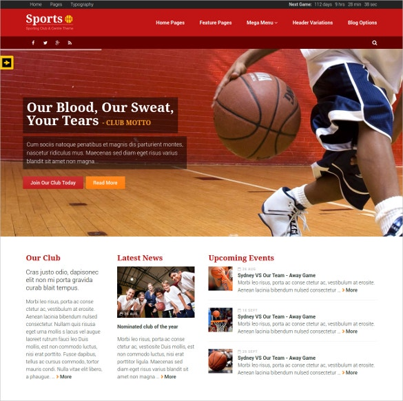 48+ Sports Website Themes & Templates | Free & Premium Templates