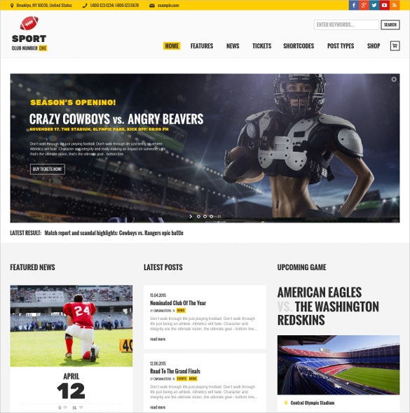 football soccer sport news wordpress website theme 59