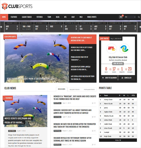 events and sports news wordpress website theme 59