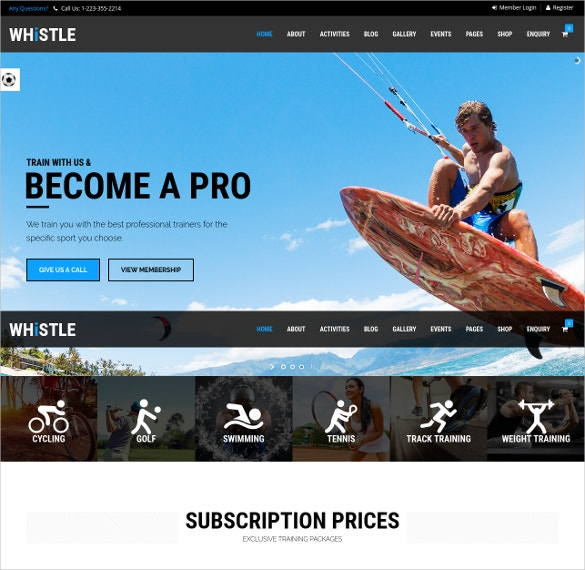 athlete sports wordpress website theme 59