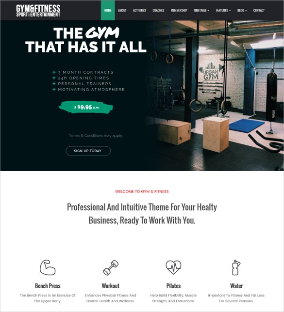 gym sports fitness wordpress webite theme 39