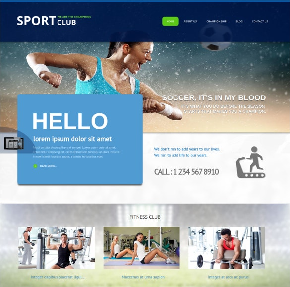 sport club joomla website theme 29