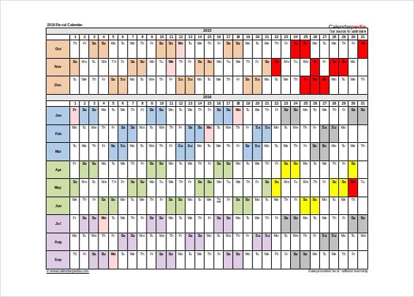 16+ Printable Microsoft Word Calendar Templates | Free & Premium