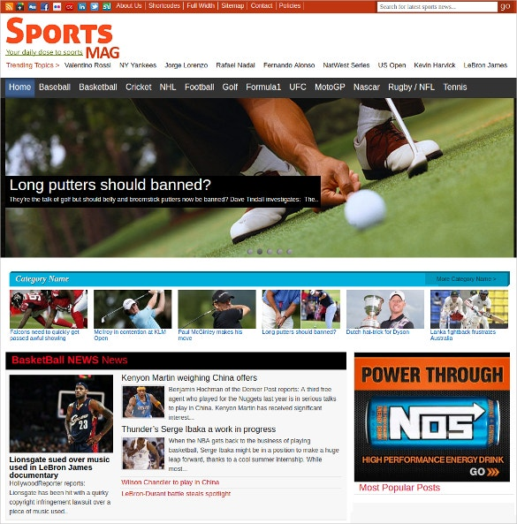 sports news wordpress website theme 59