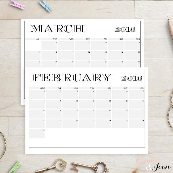 sun to mon edit in word calendar template