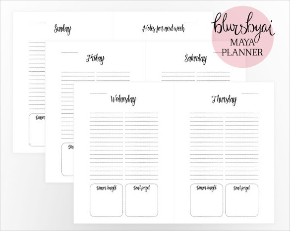 daily schedule calender word format template