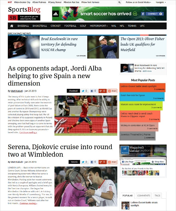 sports blogging wordpress website theme 59
