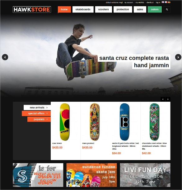 magento sports website theme 84