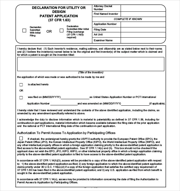 utility patent application template patent application template 12 free word pdf documents
