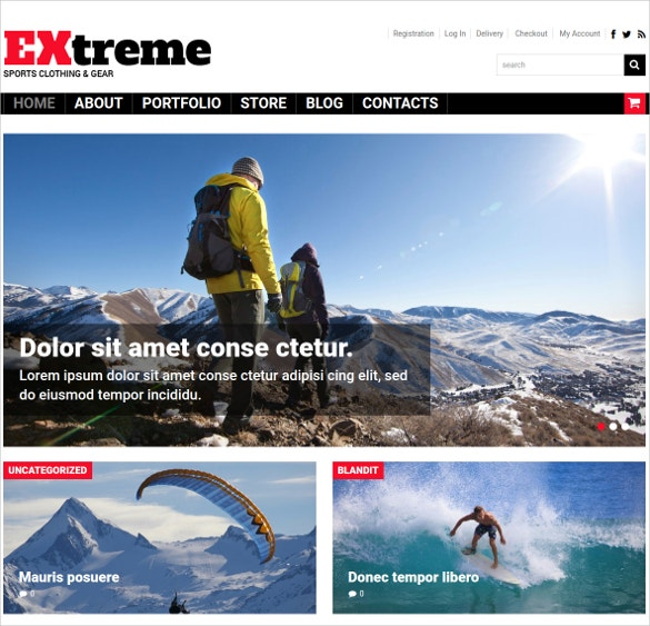 sports store woocommerce website theme