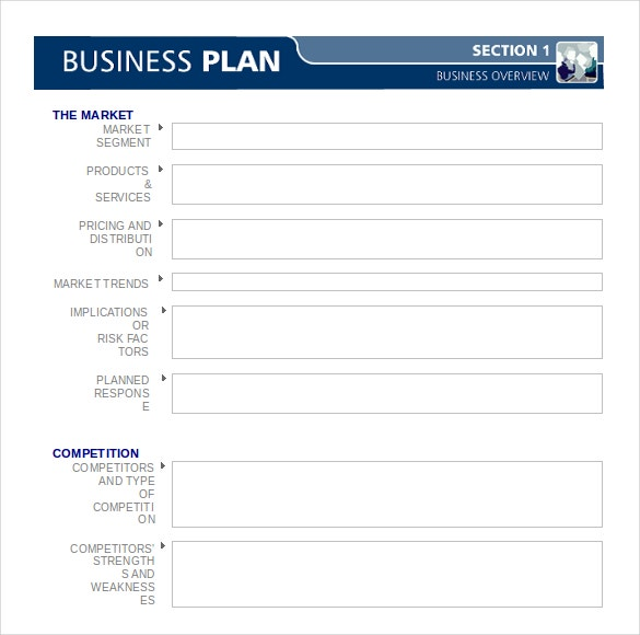 Template for a business plan friedricerecipe Gallery