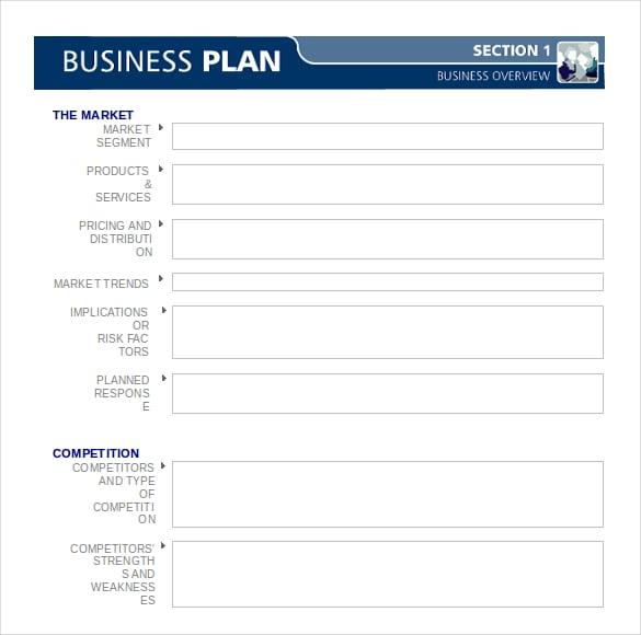 business plan formats