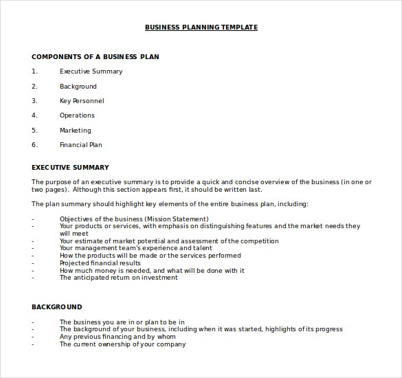 Sample business plan doc zrom cheaphphosting