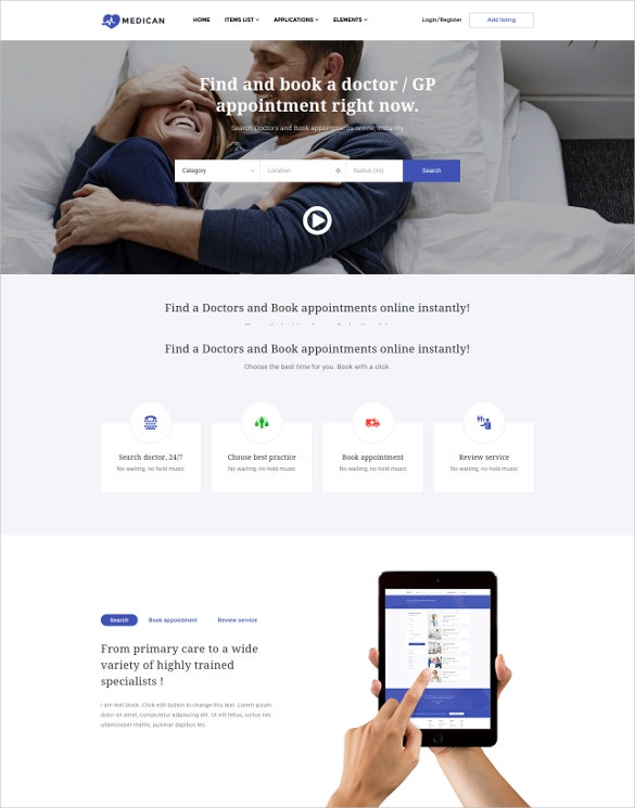 medical plastic surgery wordpress theme