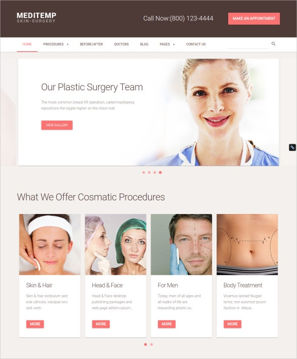plastic surgery team wordpress theme