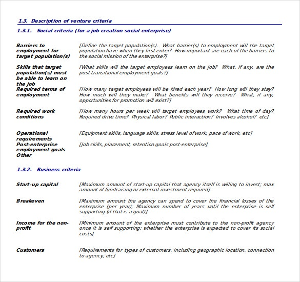 Business plan templates 43 examples in word free premium social enterprise business plan template free download in word accmission Image collections