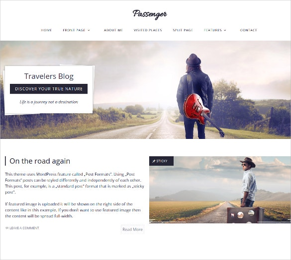passenger travelers wordpress website theme 59