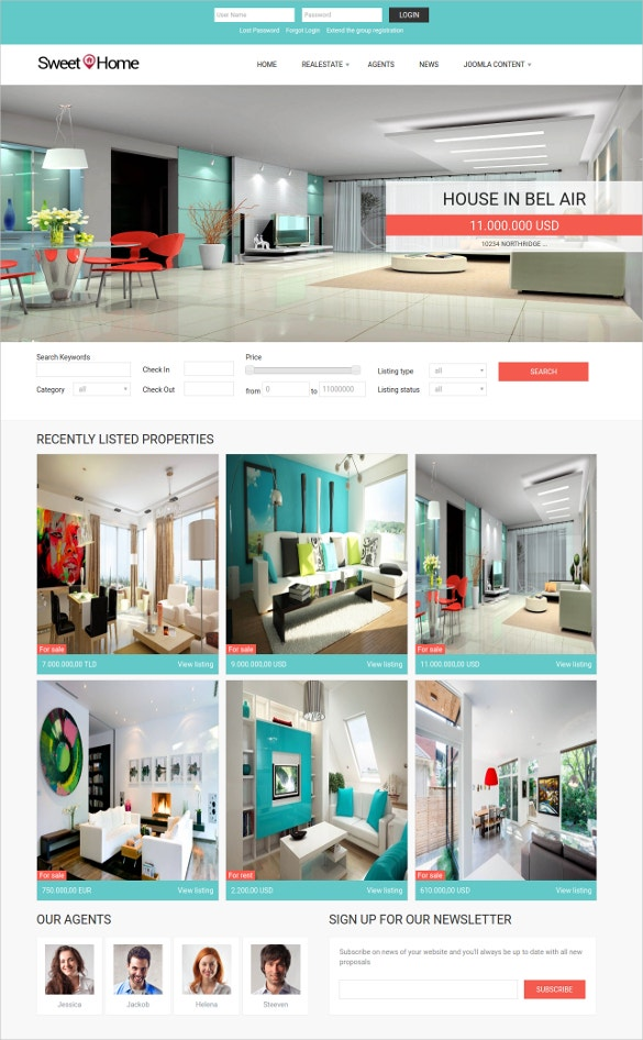 realty broker joomla template