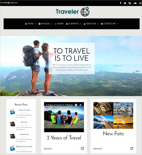 traveler wordpress blog website theme 5