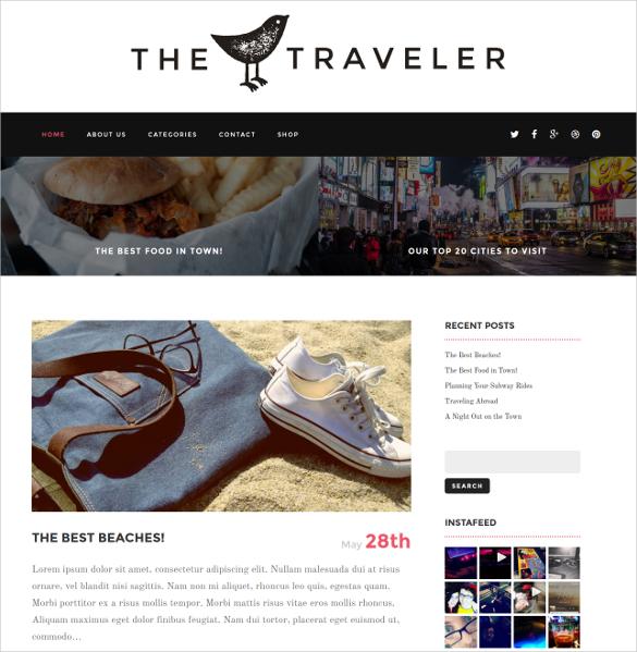 traveler news blog wordpress website theme 49
