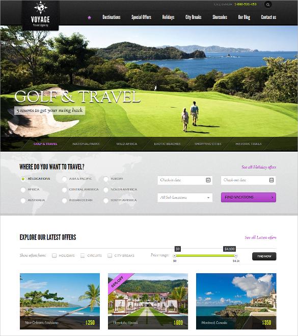 premium travel wordpress website theme 95