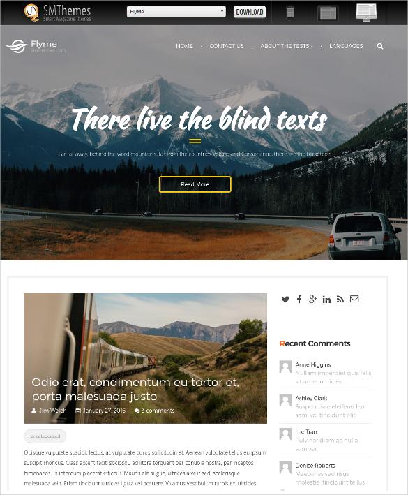 free travel agencies wordpress website theme