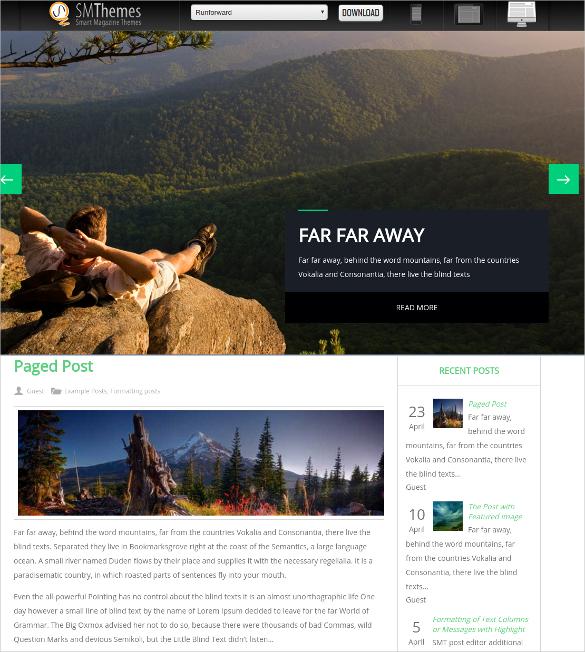 free adventure travel wordpress website theme
