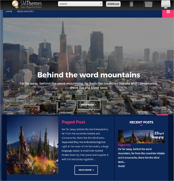 free amazing travel wordpress website theme
