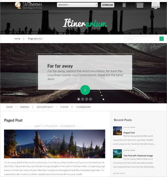 free world travel wordpress website theme
