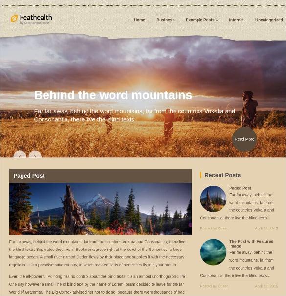 free beautiful travel wordpress website theme