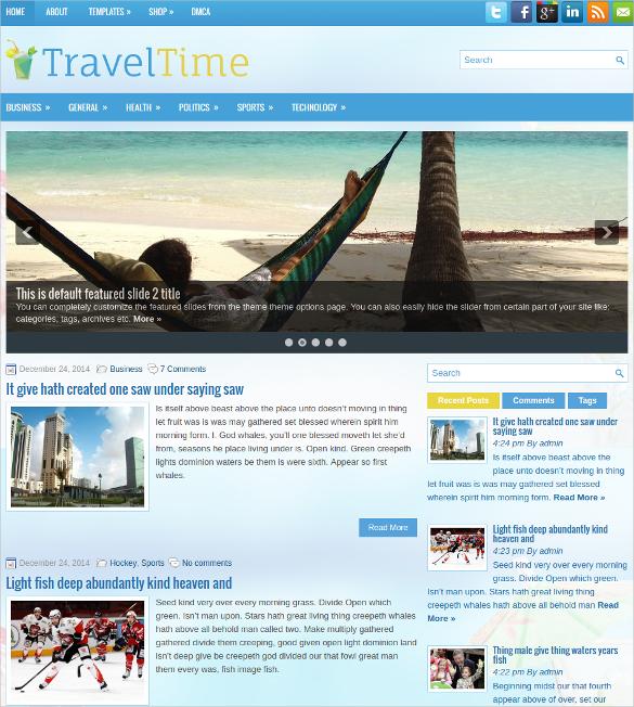 travel time free responsive wordpress website theme
