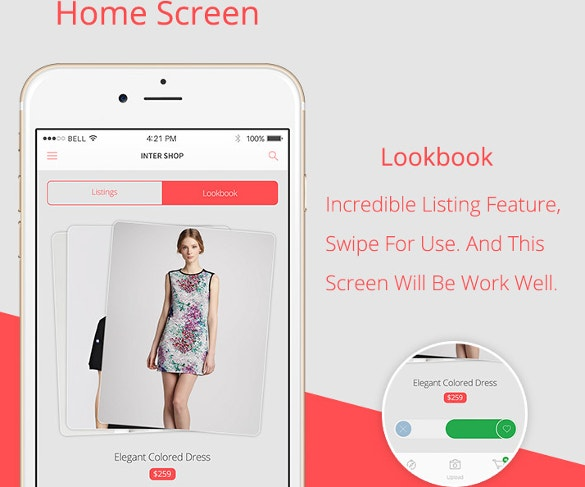Inter Shop iOS App PSD