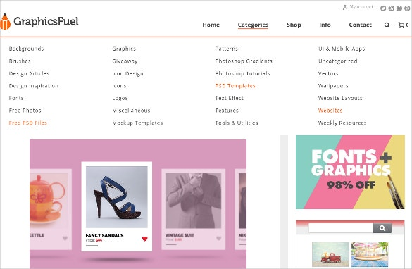 Simple Shop Products Carousel PSD