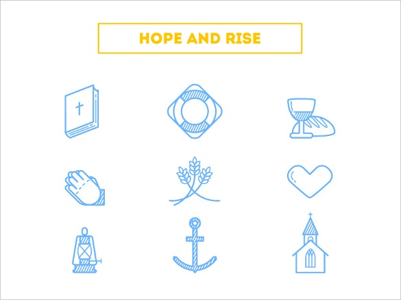 Hope and rise icons