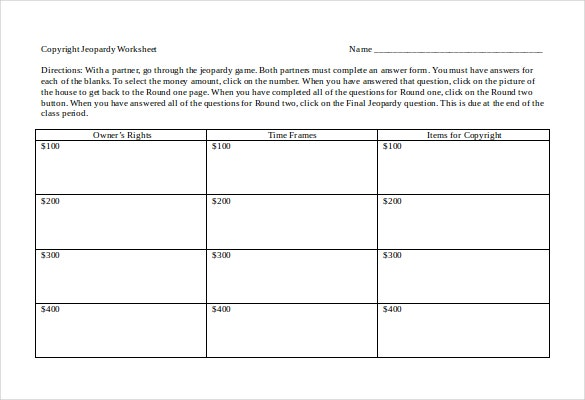 jeopardy game plan template doc download