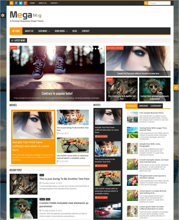 drupal page template