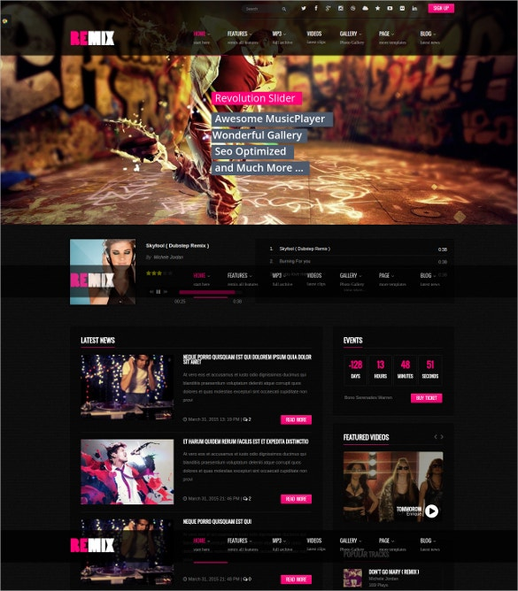 music club party drupal commerce theme