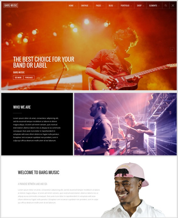 multipurpose music one page drupal theme