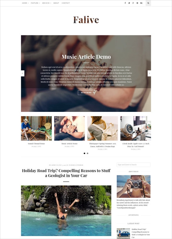 creative fashionmusic drupal blog theme