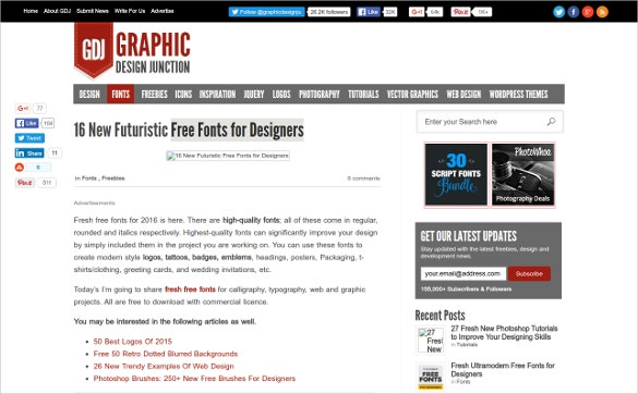 Graphic Design Junction Free Fonts for Designers