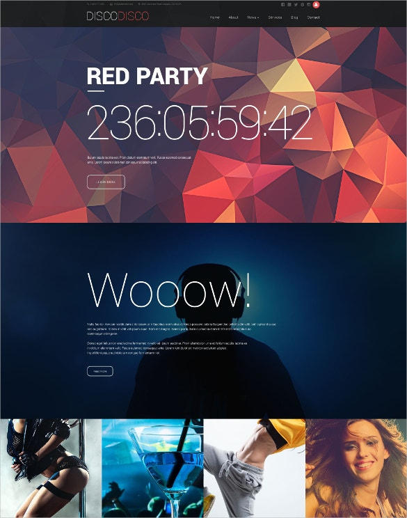 drupal nightclub themes