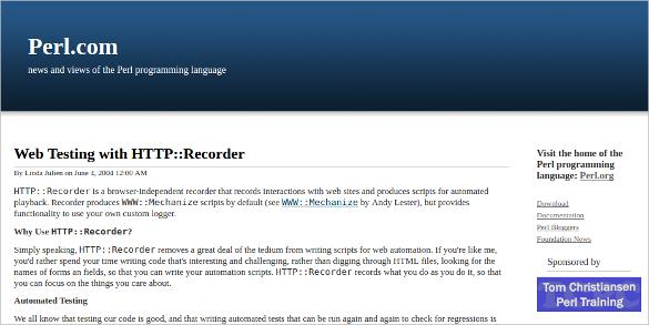 http recorder web testing tool